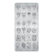 Magnetic Stamping Plate Happy Floral